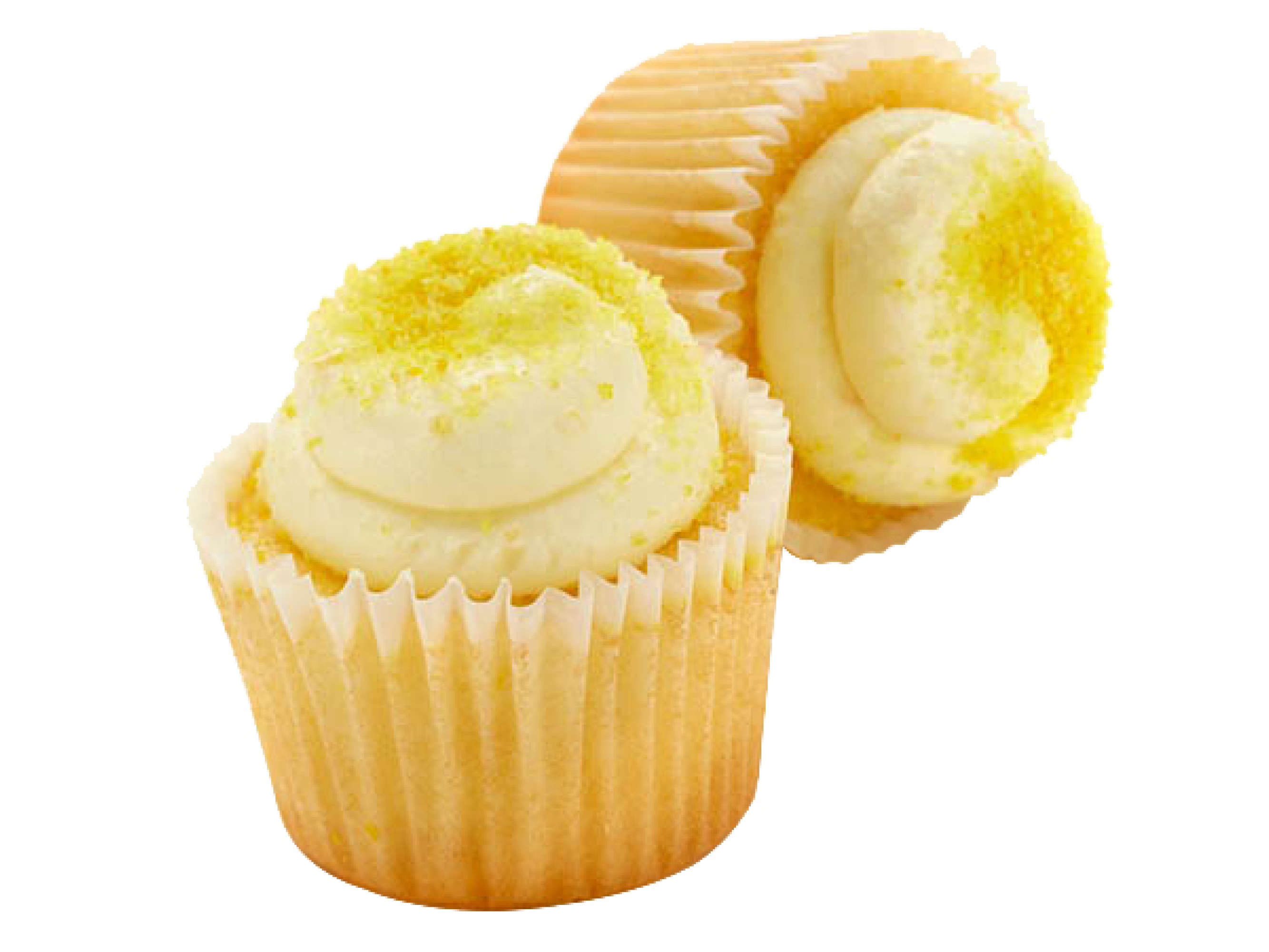 two-bite Triple Lemon Premium Cupcakes