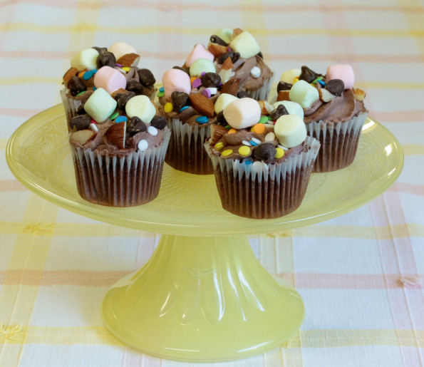 how to make rocky road cupcakes