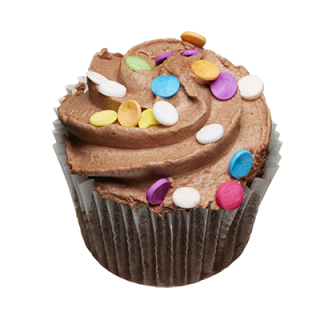 two-bite Chocolate Cupcake
