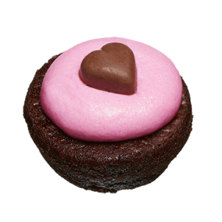 two-bite Valentine Brownie