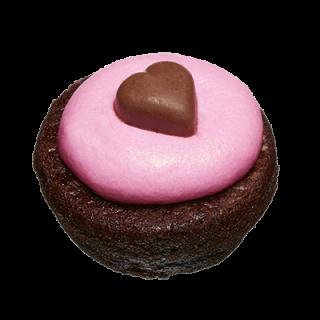 two-bite Valentine Brownie