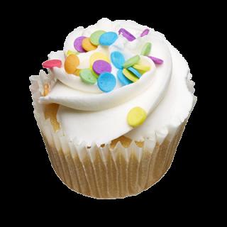 two-bite Vanilla Cupcake