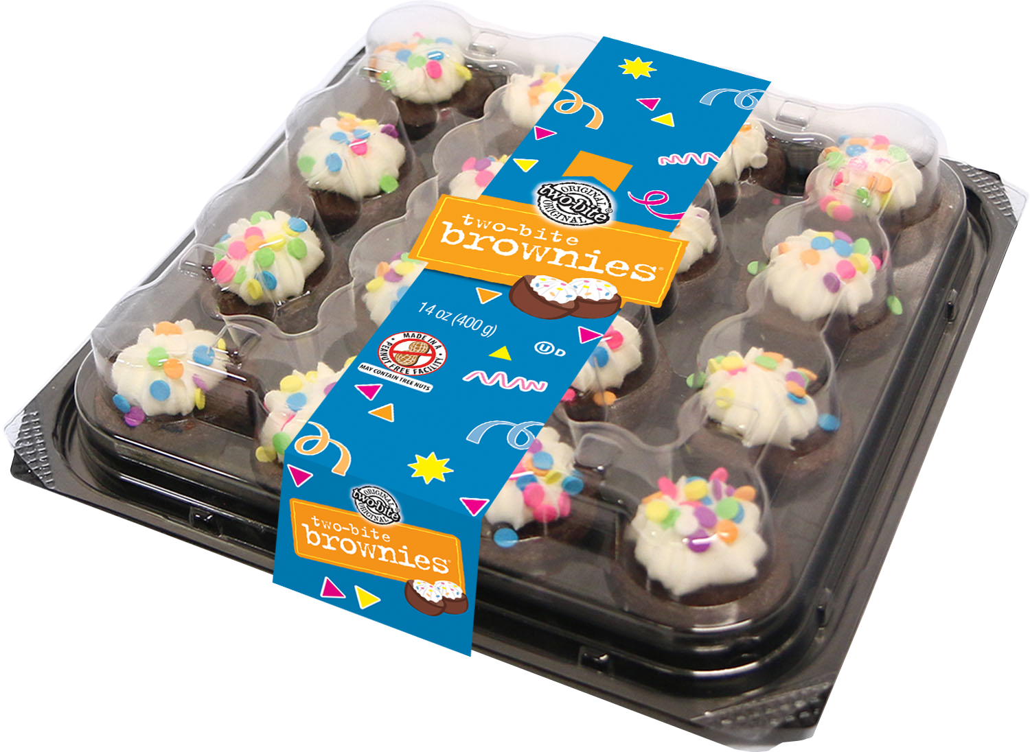 09984 - two-bite Everyday Celebration Brownies Party Platter - Square