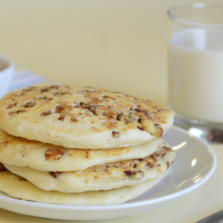 two-bite Cinnamon Roll Pancakes