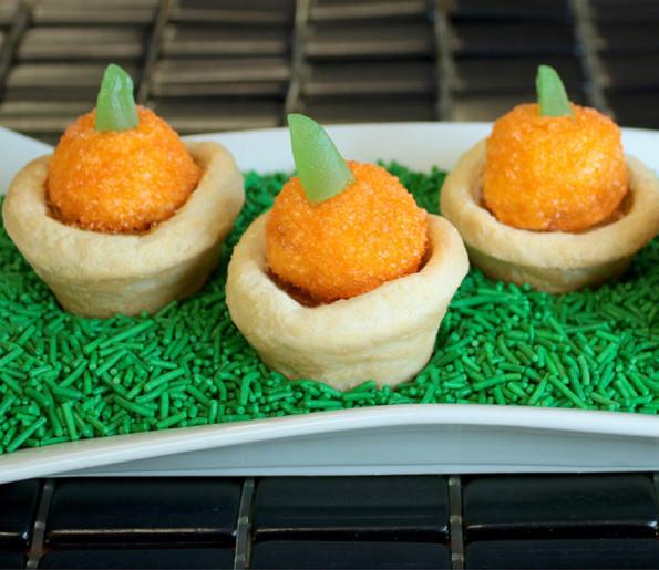 two-bite tarts pumpkin topped tart recipe