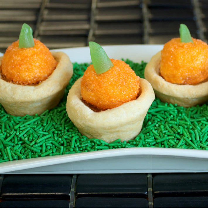 two-bite tarts pumpkin topped tart recipe