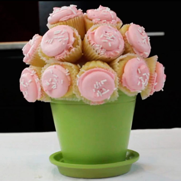 Cupcake Flower Bouquet Recipe