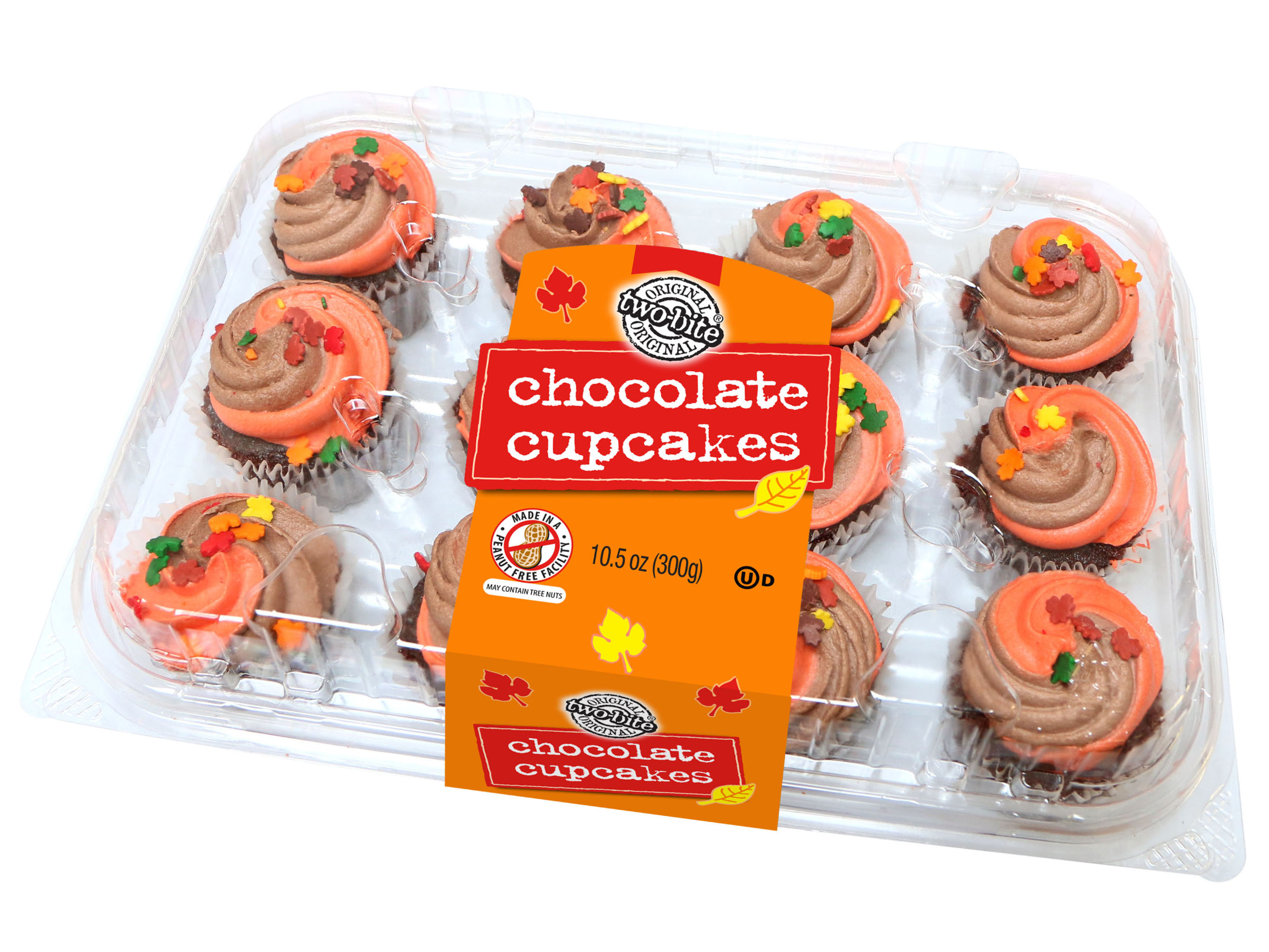 04070- - Two-Bite Chocolate Autumn Cupcakes