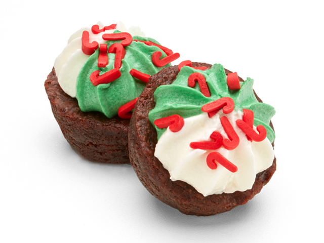 Two-Bite Christmas Brownies